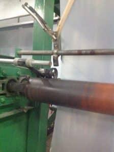 เครื่องนับความยาวของม้วนพลาสติกปูพื้นก่อนเทปูน
