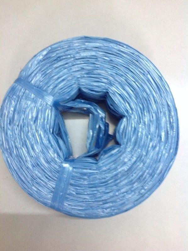 รูป เชือกฟาง เกรดบีสีฟ้า 1 นิ้ว