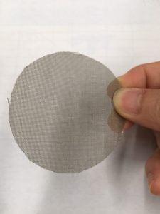 ตะแกรงเหล็กเบอร์ 100 สำหรับกรองเนื้อพลาสติกในโรงงานถุงพลาสติก